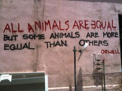 George Orwell, Animal Farm graffiti found in Singapore
